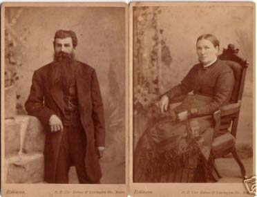 FREDERICK & MARY KING PORTRAITS EARLY 1900'S!