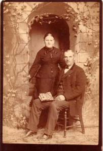 NATHAN & MARY CAVEY PORTRAIT EARLY 1900'S!